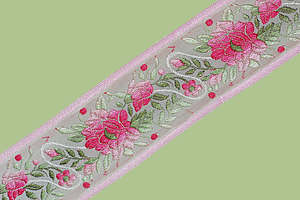 Vintage Floral Ribbon from France