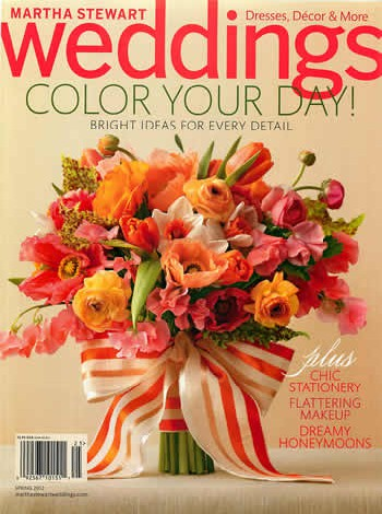 Hendler's Ribbon on Cover of Martha Stewart Weddings Spring 2012